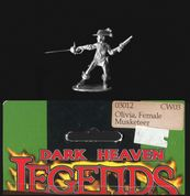 Reaper Miniatures 25mm/28mm Fantasy 03012 Olivia, Female Musketeer